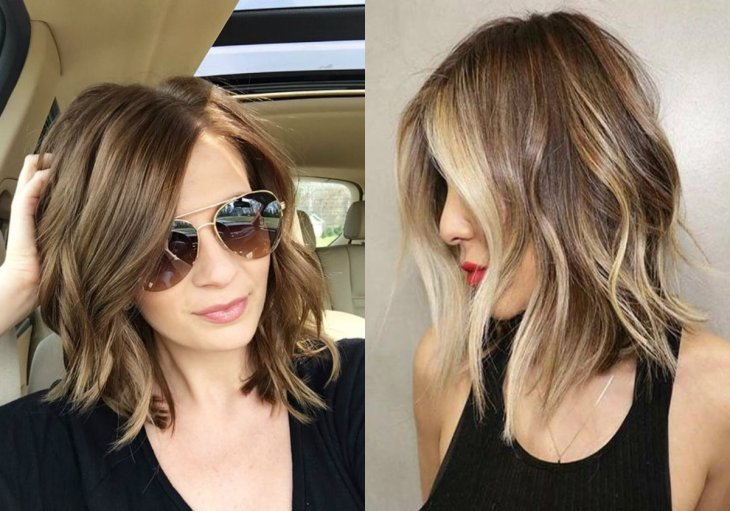 wavy-lob-hairstyles-with-highlights